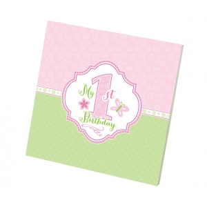 Lillian Rose 1st Birthday Memory Book: Pink