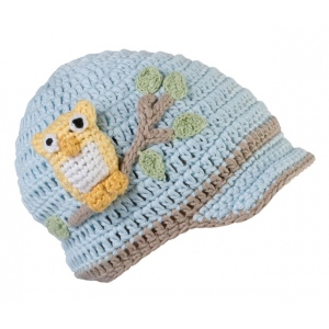 Lillian Rose Blue Owl Cap 0-6 Months
