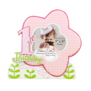 Lillian Rose 1st Birthday Frame - Pink