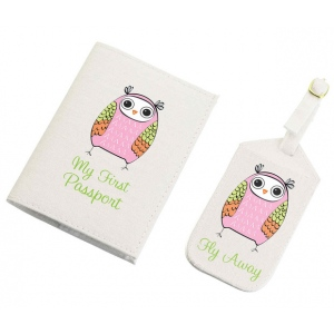 Lillian Rose Pink Owl Tag & Passport