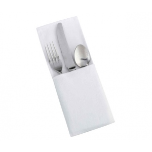 Lillian Rose Set of 4 White Silverware Holders - Blank