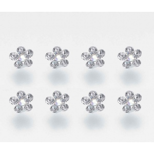 Lillian Rose Set of 8 Flower Rhinestone Bouquet Picks