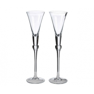 Lillian Rose Set of Tall Flutes - Clear