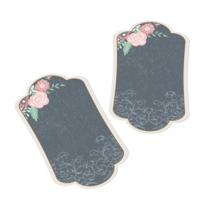 Lillian Rose Set of 24 Chalk Style Flower Key Tags