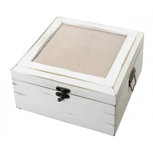 Lillian Rose Antique White Card Box - Blank
