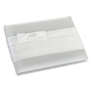 Lillian Rose White Pleated Silk Guest Book