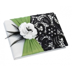 Lillian Rose Green & Black Guest Book