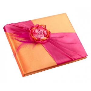 Lillian Rose Hot Pink & Orange Guest Book
