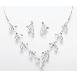 Lillian Rose Pearl Drop Necklace & Ear Set