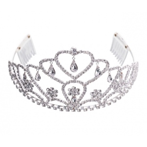 Lillian Rose Flower Rhinestone Tiara