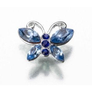 Lillian Rose Blue Butterfly Pin