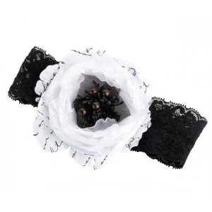 Lillian Rose Black & White Garter