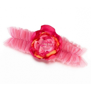 Lillian Rose Hot Pink/Orange Tulle Garter