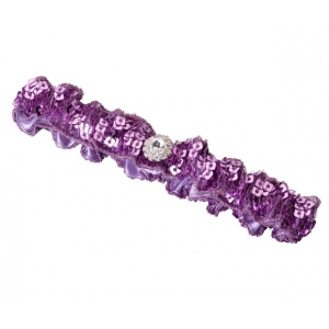 Lillian Rose Sequin Garter - Purple