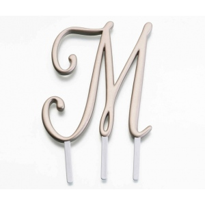 Lillian Rose Gold Monogram - M