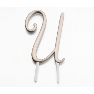Lillian Rose Gold Monogram - U