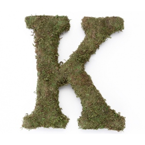 Lillian Rose Large 15 inch Moss Monogram Letter - K