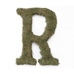 Lillian Rose Large 15 inch Moss Monogram Letter - R