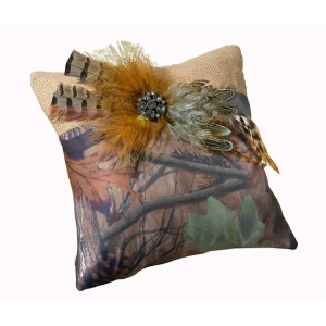 Lillian Rose Camouflage Ring Pillow