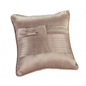 Lillian Rose Taupe Pleated Silk Pillow