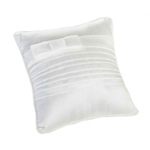 Lillian Rose White Pleated Silk Pillow