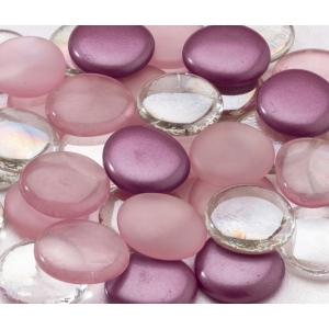 Lillian Rose Glass Signing Stones (Approx 45) - Purple mixed
