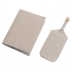 Lillian Rose Luggage Tags & Passport Cover Tan - Blank