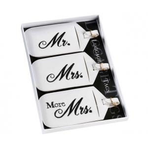 Lillian Rose Set of 3 Mr. & Mrs. Luggage Tags