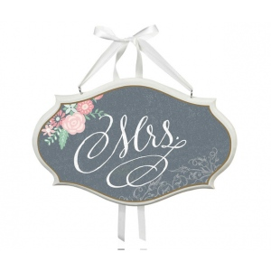 Lillian Rose Mrs. Sm Oval Sign - Black