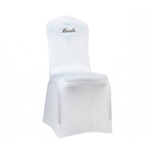 Lillian Rose Bride Chair Cover - White
