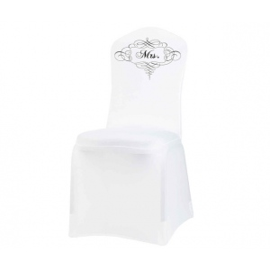 Lillian Rose Mrs. Chair Cover White