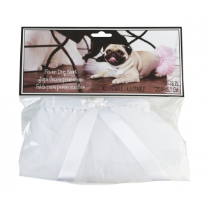 Lillian Rose Flower Dog Skirt - White