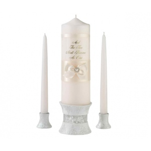 Lillian Rose Ivory Pearl Candle Set