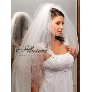 Illusions Bridal Corded Edge Veil S1-302-C-P