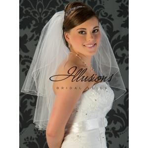 Illusions Bridal Corded Edge Veil S1-252-C: Ivory