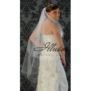 Illusions Bridal Corded Edge Veil C5-452-C: Pearl Accent