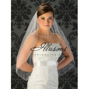 Illusions Bridal Corded Edge Veil 5-301-C: Cheap, Rhinestone Accent