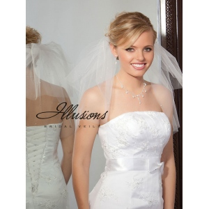 Illusions Bridal Cut Edge Veil S5-202-CT-P