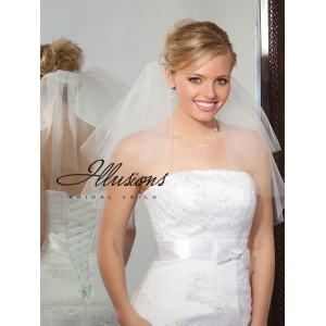 Illusions Bridal Cut Edge Veil C7-202-CT