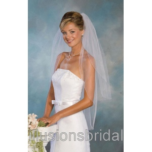 Illusions Bridal Colored Veils and Edges S5-362-C-LV: Pearl Accent
