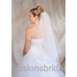 Illusions Bridal Colored Veils and Edges: Navy Blue Corded Edge