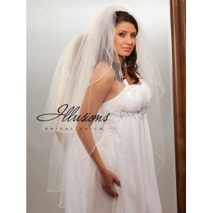 Illusions Bridal Pearl Edge Veil S1-452-P