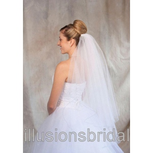 Illusions Bridal Colored Veils and Edges: Light Blue Corded Edge