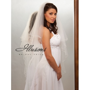 Illusions Bridal Pearl Edge Veil C7-452-P