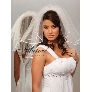 Illusions Bridal Ribbon Edge Veil S5-202-1R