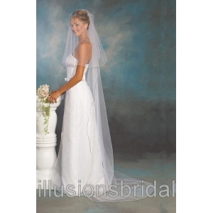 Illusions Bridal Colored Veils and Edges C5-902-C-BK: Rhinestone Accent