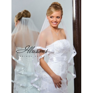 Illusions Bridal Ribbon Edge Veil C7-362-7R-P