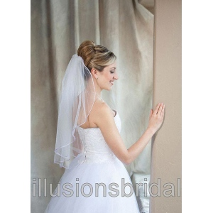 Illusions Bridal Colored Veils and Edges: Lavender Rattail Edge
