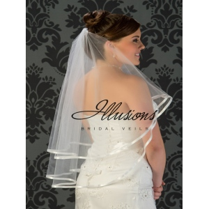 Illusions Bridal Ribbon Edge Veil C5-302-3R