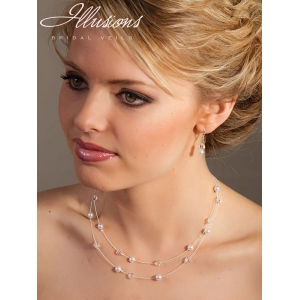 Illusions Bridal Jewelry 948: Pearl and Crystal